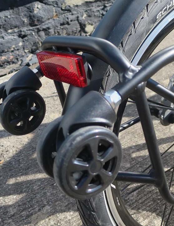 folding road bike rear rack