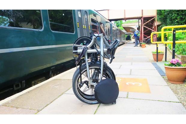 Tern BYB folding road bike folded