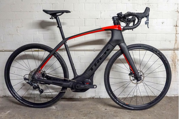 Trek Domane+ e-road bike driveside view