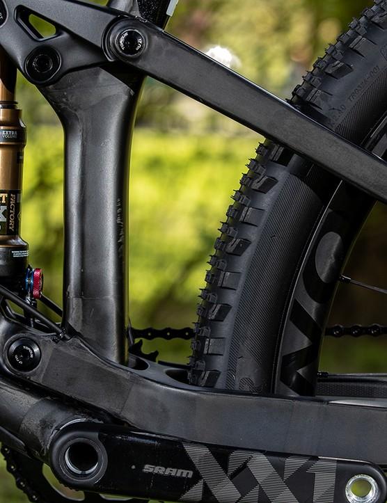 mountain bike lower pivot and rear shock