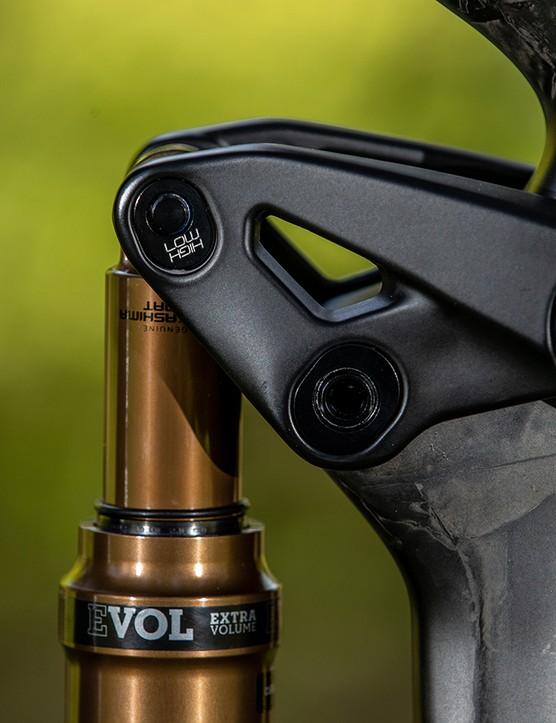 mountain bike geometry adjustment and rear shock