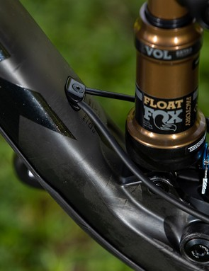 mountain bike cable routing and rear shock