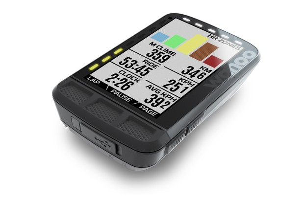 The Wahoo Elemnt Roam with colour screen on white background