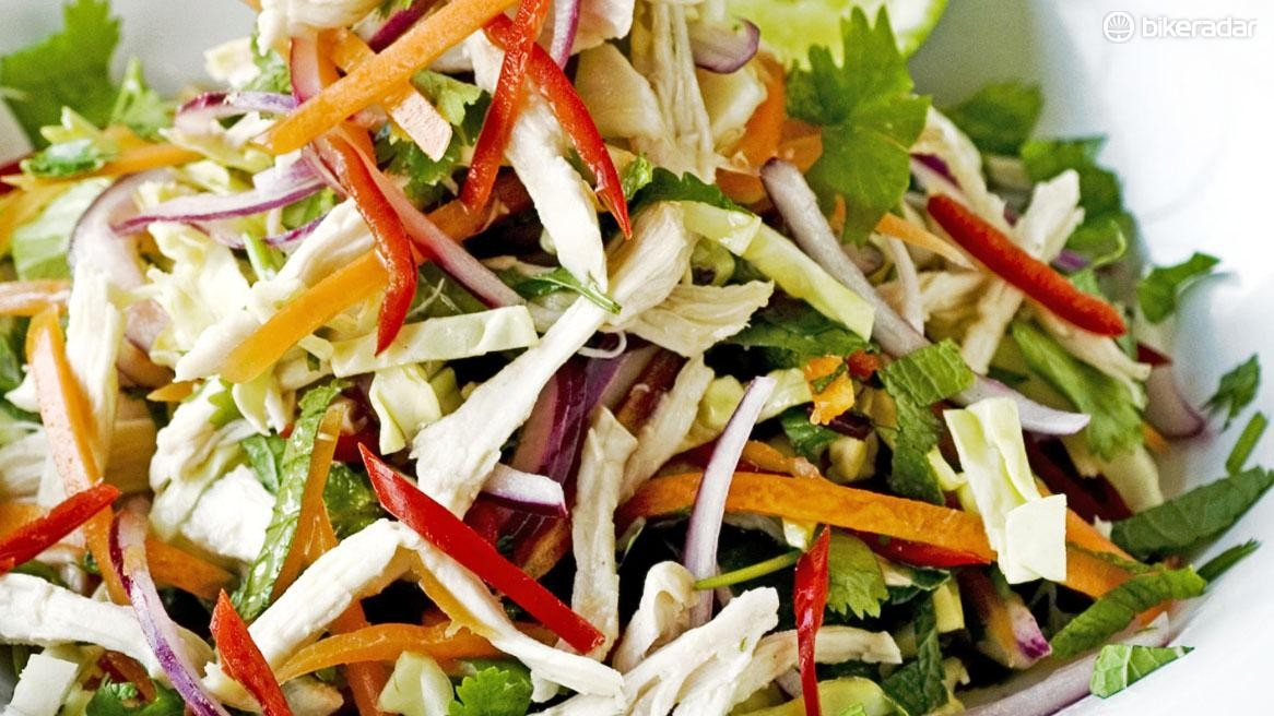 Thai-style shredded chicken salad