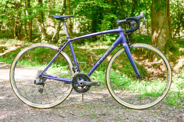 Purple aluminium Trek Emonda ALR road bike with SRAM RED eTap groupset