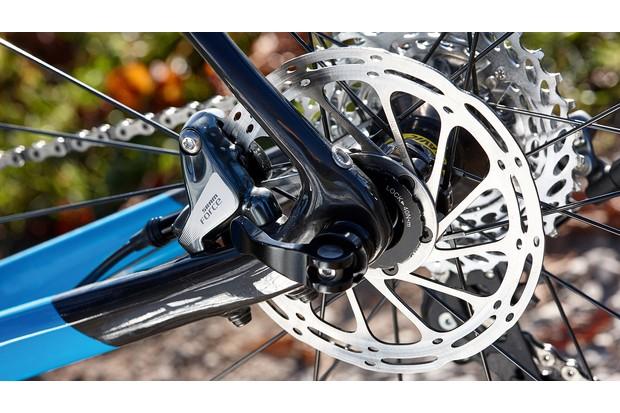 Disc brakes on Ribble CX5 road bike