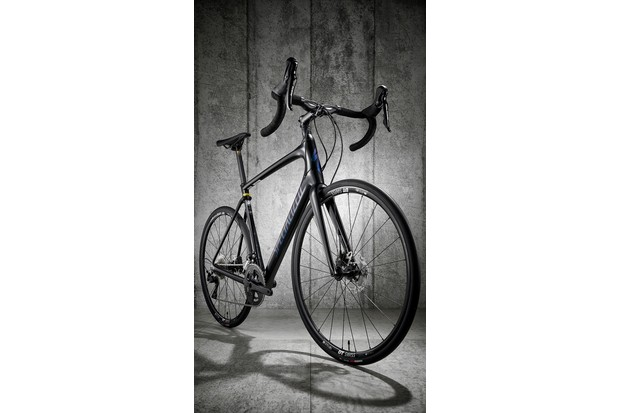Three-quarter view of road bike Specialized Roubaix Sport
