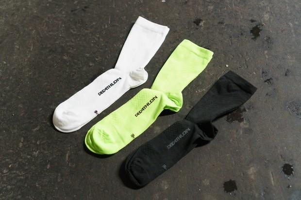 Decathlon plain coloured cycling socks