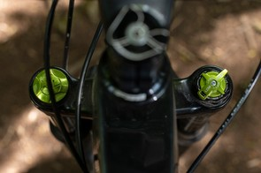 There are plenty of adjustments within easy reach on the DVO Diamond forks