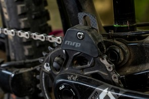 The chain guide helps keep the chain in place even when the riding gets super rough