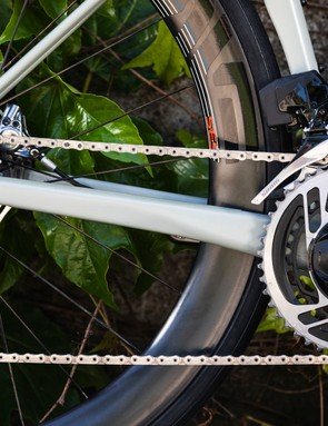 SRAM's Red AXS drivetrain on road bike