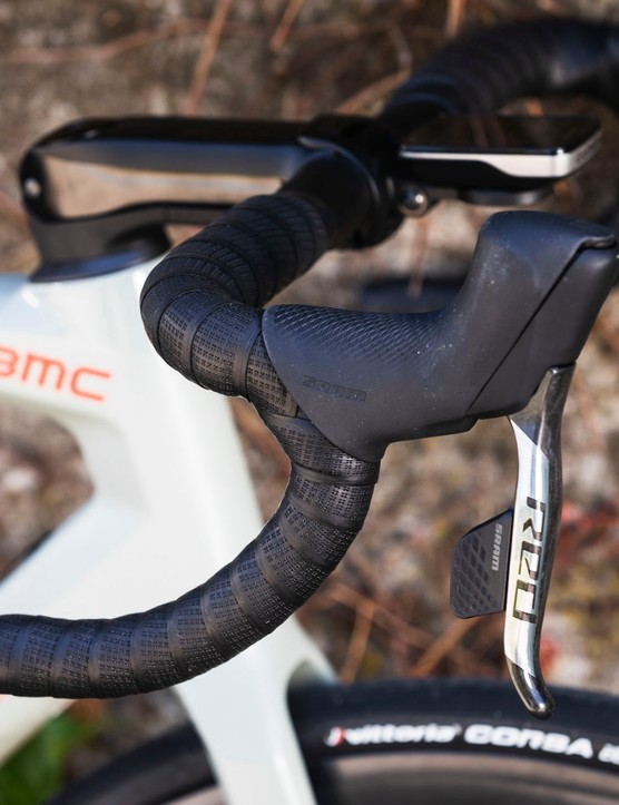 SRAM's Red AXS levers on road bike