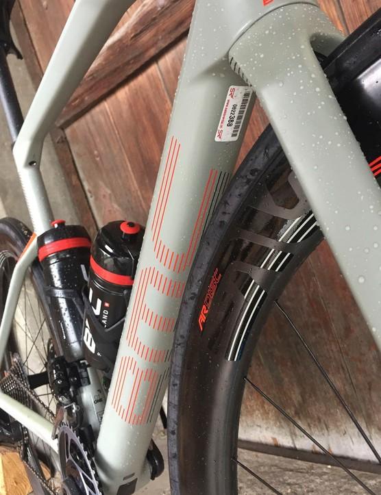 grey road bike