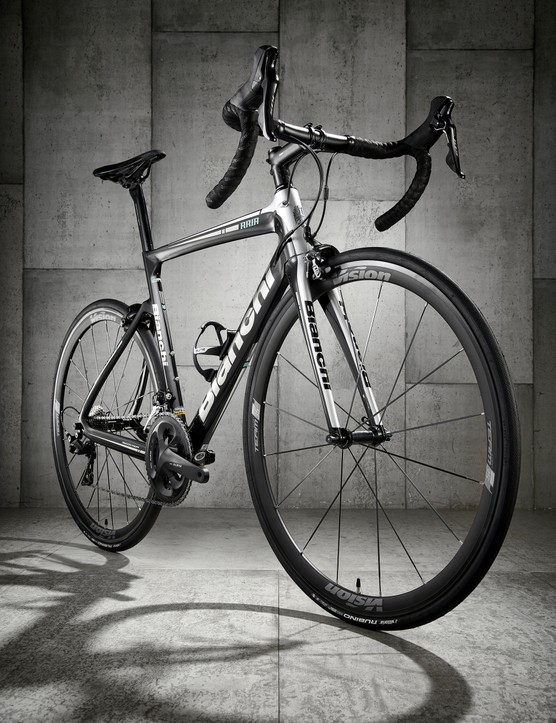 black road bike white background