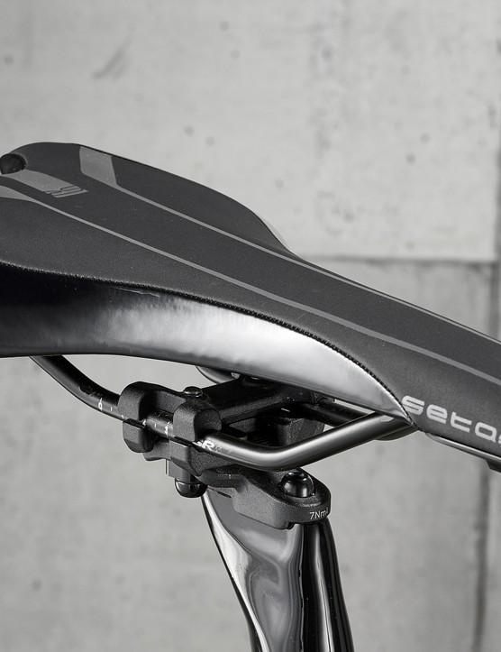 saddle on road bike