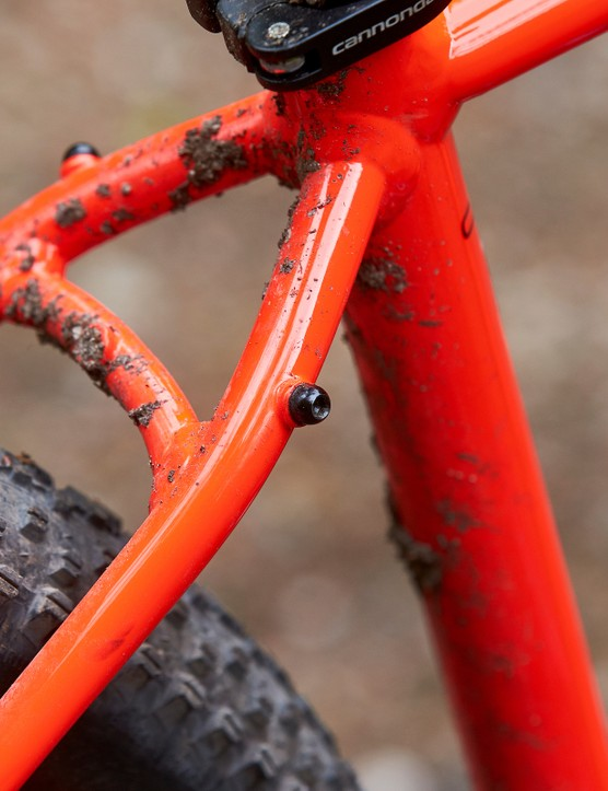 seat stays red orange hardtail mountain bike