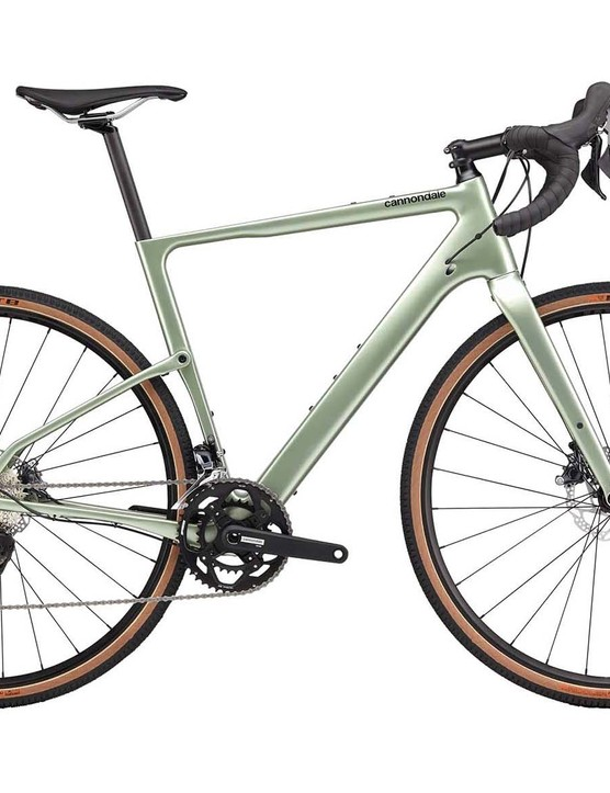Cannondale Topstone Carbon road bike white background