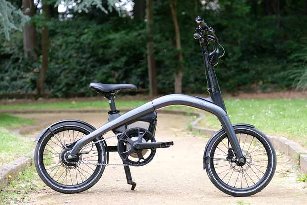 Ariv Merge folding bike unfolded driveside
