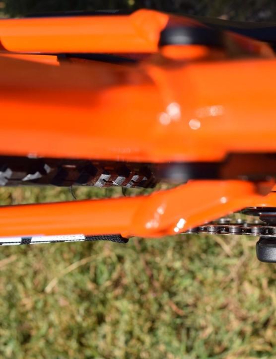mud clearance on a bike