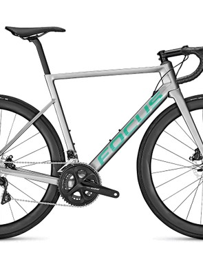 Grey road bike white background