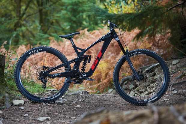 Black full suspension mountain bike