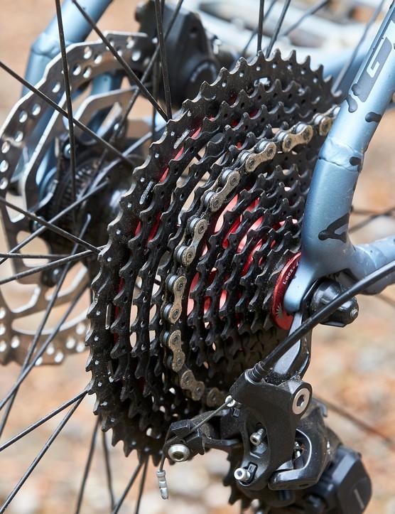 cassette on GT Zaskar Alloy Comp hardtail mountain bike