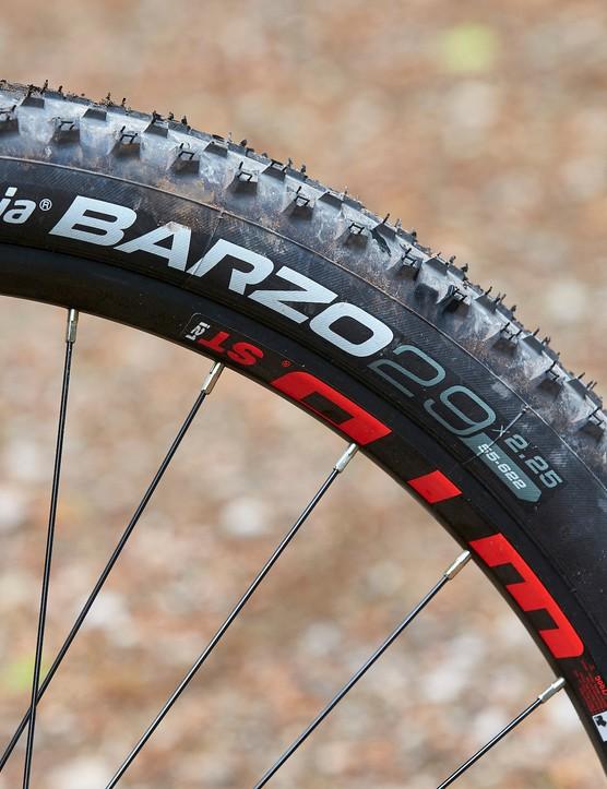 tyre on GT Zaskar Alloy Comp hardtail mountain bike