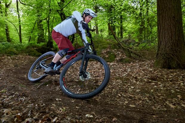 Cyclist riding GT Zaskar Alloy Comp