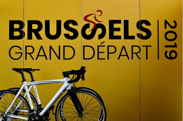 Post advertising the Brussels Grand Départ of the 2019 Tour de France