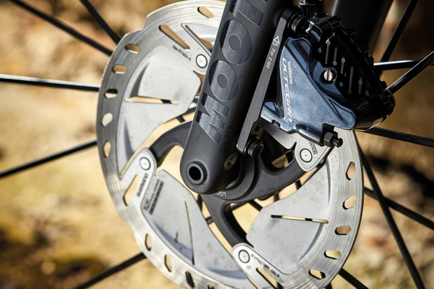 Hydraulic disc brakes on Moots Routt YBB