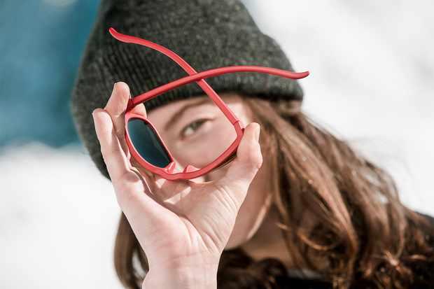 Ultraflex glasses being flexed