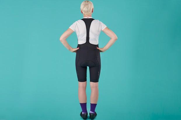 Back of Specialized SL Expert women's bib shorts