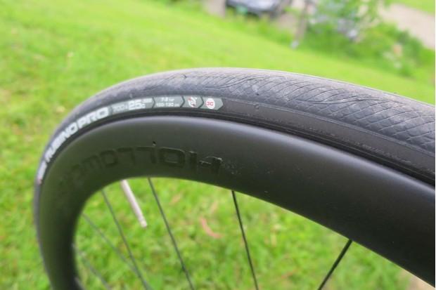 KNOT wheel on road bike
