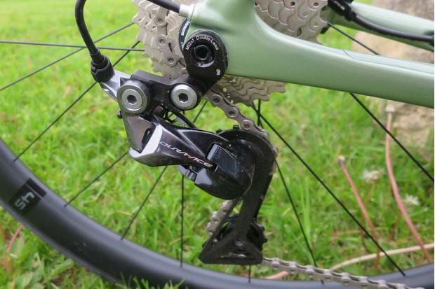 Derailleur on road bike