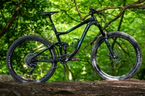 The Liv Intrigue Advanced 0, a women's specific trail bike designed to handle most of the riding most people do