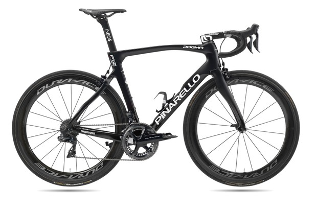 All-black Pinarello road bike