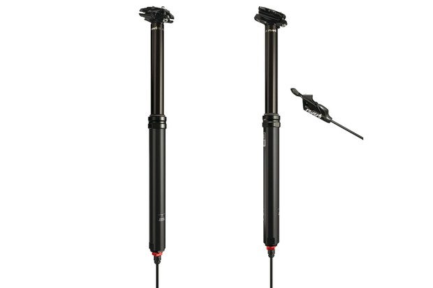 Image of two RockShox Reverb dropper seatposts on a white background