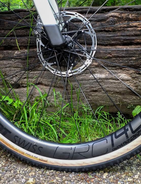 DT Swiss GRC 1400 Spline carbon wheelset on BMC URS ONE gravel road bike