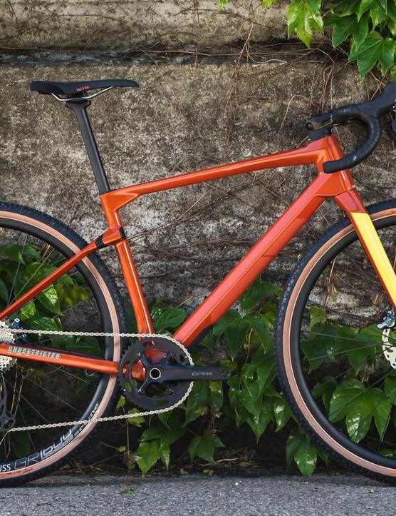 red gravel road bike