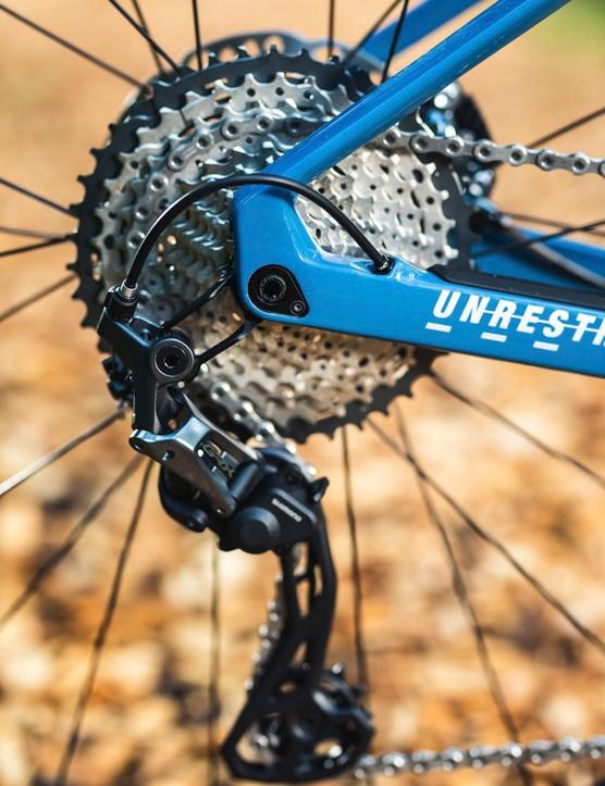 Deore SLX cassette on BMC URS THREE gravel road bike