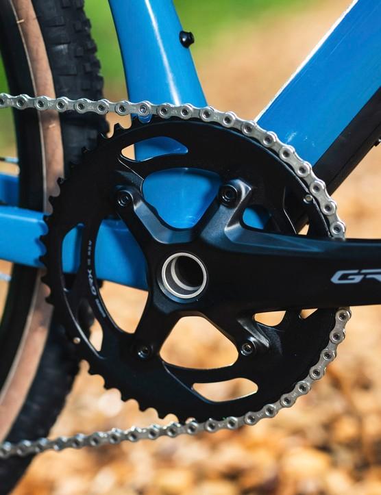 GRX chainset has 40 teeth on BMC URS THREE gravel road bike