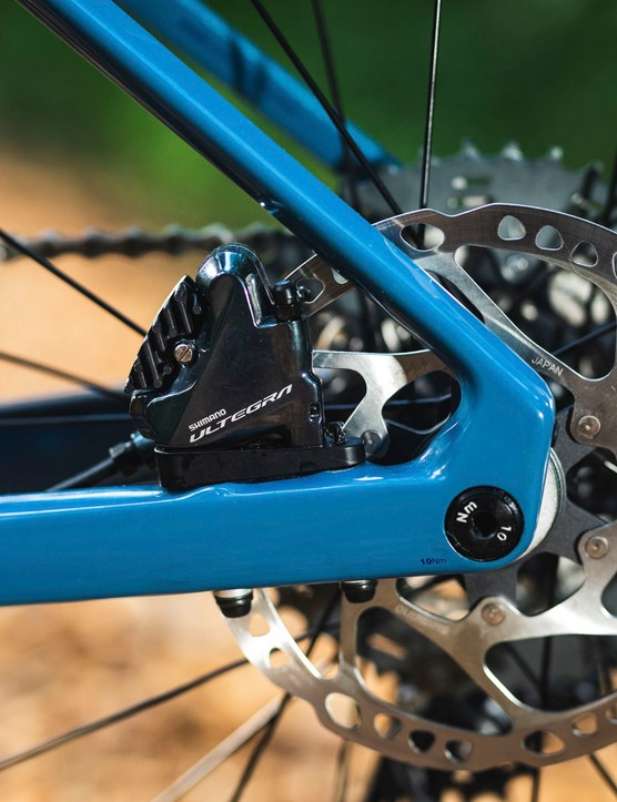 Ultegra shifters and brake calipers on BMC URS THREE gravel road bike