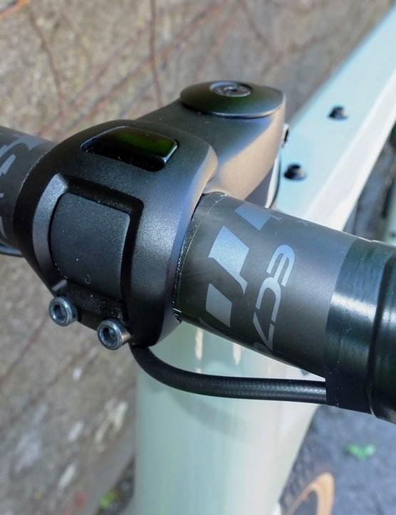 bar and stem on gravel road bike