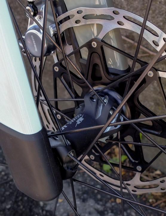 protected fork tips on gravel road bike