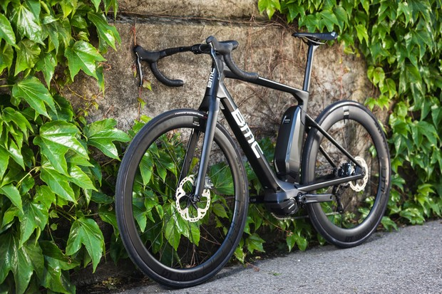 Black BMC Alpenchallenge AMP road e-bike