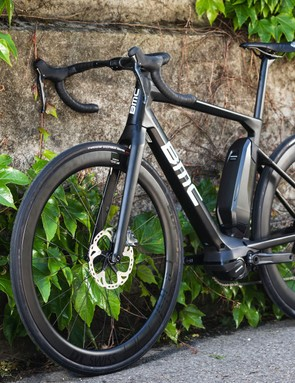 black BMC Alpenchallenge AMP road e-bike