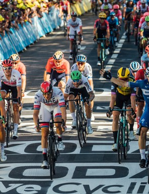 Elia Viviani winning stage four of the 2019 Tour de France
