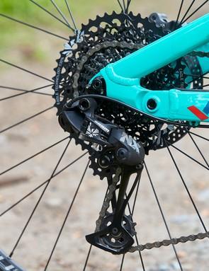 SRAM NX Eagle drivetrain on full suspension mountain bike