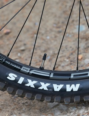 Stans wheels on full suspension GT mountain bike