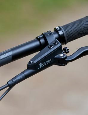 TRP G-Spec brake lever on full suspension GT mountain bike